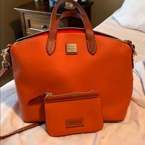 Dooney and bourke satchel/crossbody, coin purse